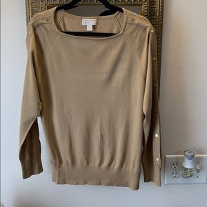Micheal Kors sweater with gold buttons